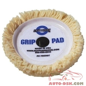 Buff And Shine 7-1/2in Wool Self Centering Polishing / Buffing Pad - part #BUF7502GT