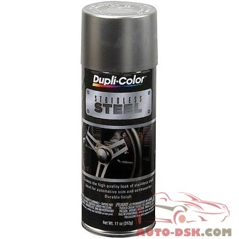 Duplicolor Automotive Metallic Coating, Stainless Steel, 11 oz. Aerosol - part #SS100