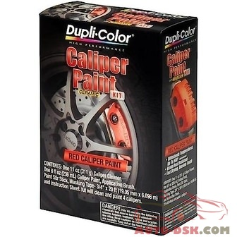 Duplicolor Caliper Kit, Red, 8 oz. Half-Pint/Aerosol Kit - part #BCP400