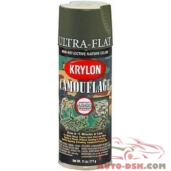 Duplicolor Camouflage Paint with Fusion Technology, Olive, 12 oz, Aerosol - part #4293
