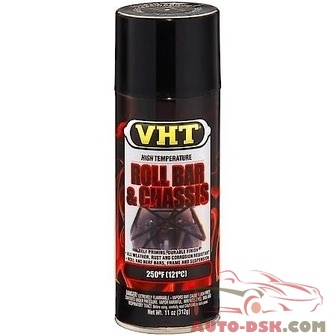 VHT Paint Roll Bar & Chassis, Gloss Black, 11 oz, Aerosol - part #SP670